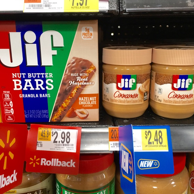 Jif Bars and Spreads