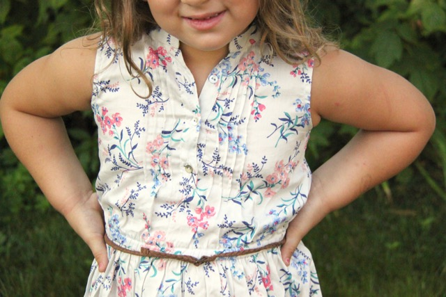 ad03cf80ba0 ... the girly details like this cute pleated front and Ellie loves that  belt and the grown up look! Honestly