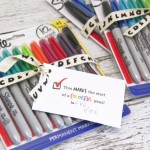 Back to School Sharpie Teacher Gift Idea and Free Printable