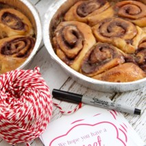 Ooey Gooey Cinnamon Roll Recipe and Cute Back to School Printable