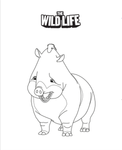 rosie coloring page