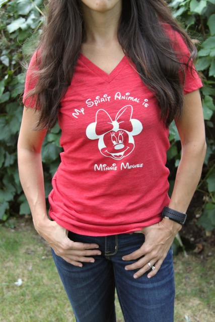 How to Make a Disney Inspired Shirt with Your Silhouette // SmashedPeasandCarrots.com