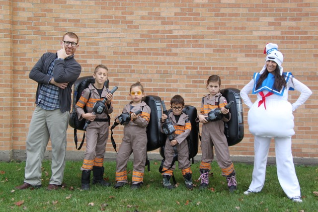 Ghostbusters Family Costumes // SmashedPeasandCarrots.com