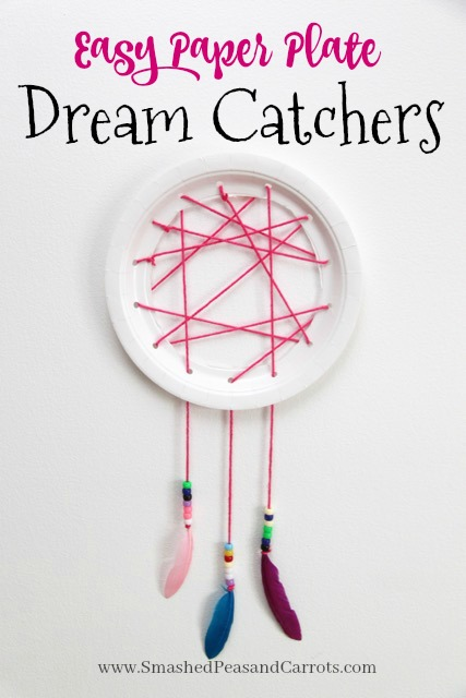 Easy Paper Plate Dream Catcher Tutorial Smashed Peas Carrots