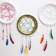 Easy Paper Plate Dream Catcher Tutorial