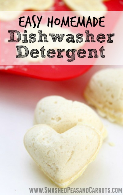 Easy Homemade Dishwasher Detergent Tabs