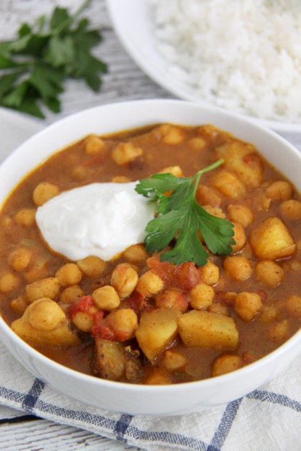 Instant pot chana masala smashed peas carrots pressure cooker instant pot chana masala forumfinder Image collections