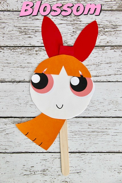 Powerpuff Girls Blossom Paper Plate Mask