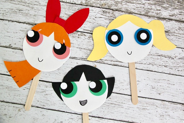 The Powerpuff Girls Paper Plate Masks - Smashed Peas & Carrots