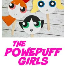 The Powerpuff Girls Paper Plate Masks