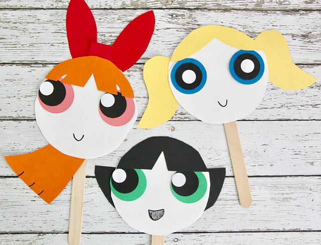 The Powerpuff Girls Paper Plate Masks  sc 1 st  Smashed Peas \u0026 Carrots & The Powerpuff Girls Paper Plate Masks - Smashed Peas \u0026 Carrots