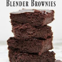 The Easiest Paleo and Gluten Free Blender Brownies