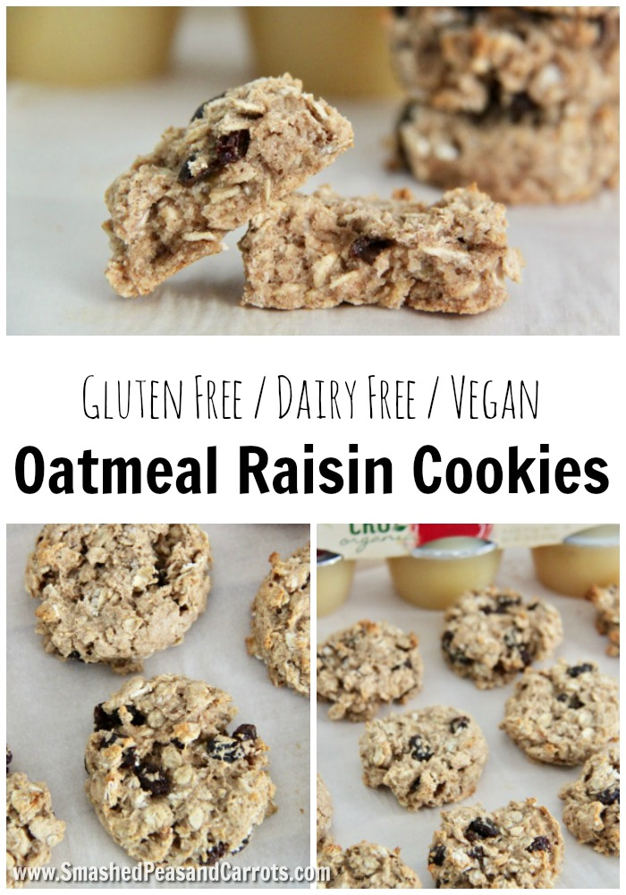 These delicious Gluten Free Vegan Oatmeal Raisin Cookies make the ...