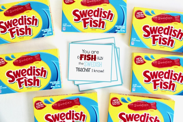 Swedish Fish Teacher Appreciation Gift