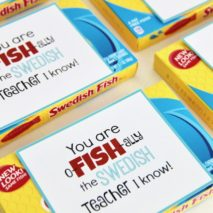 Swedish Fish Teacher Appreciation Gift and Free Printable