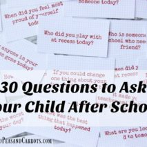 30 Questions to Ask Your Kid After School