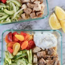 Easy Greek Chicken Bowls