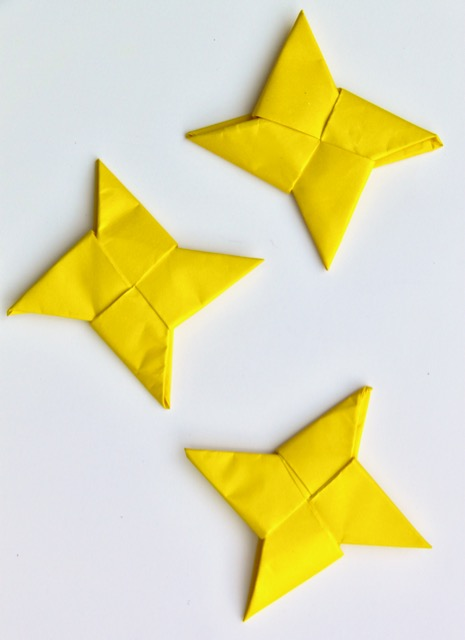origami ninja throwing star smashed peas amp carrots