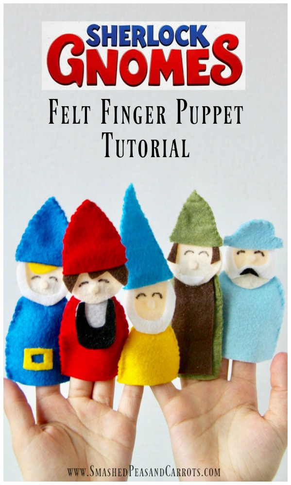 Gnome Felt Finger Puppet Tutorial