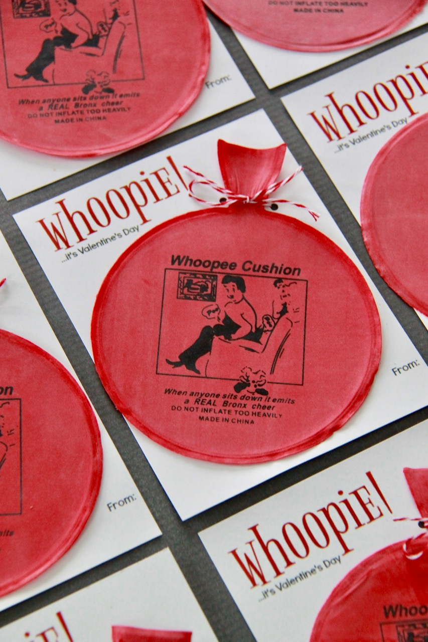 Whoopee Cushion Valentine Printable
