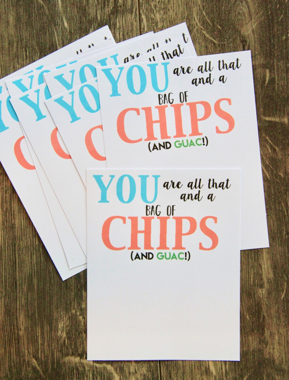 picture regarding You're All That and a Bag of Chips Free Printable called Chipotle Present Card Trainer Thank Oneself