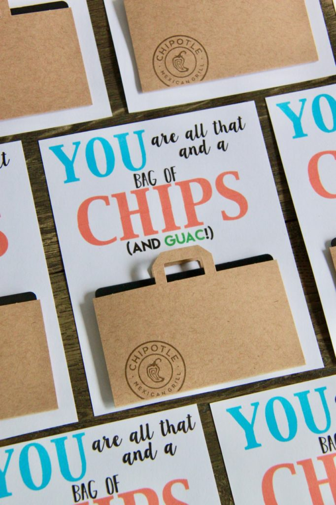 Chipotle Gift Card Teacher Thank You with FREE Printable