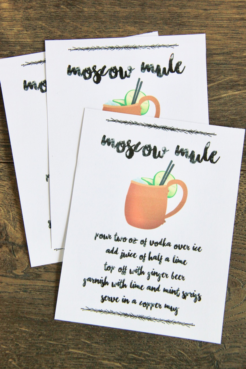 graphic about Moscow Mule Recipe Printable titled Moscow Mule Instructor Thank By yourself Present