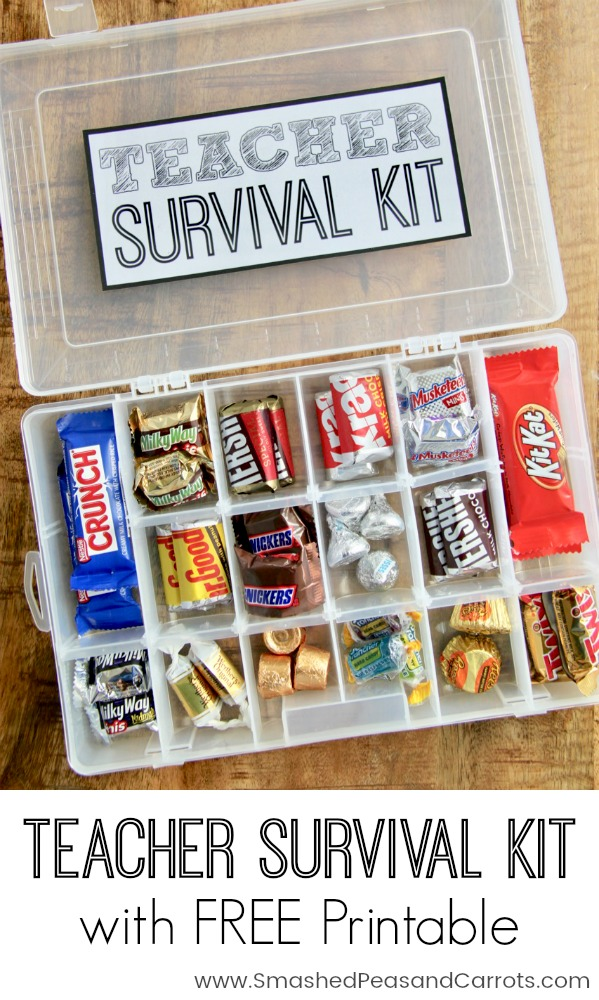 picture regarding Teacher Survival Kit Printable titled Trainer Survival Package with Totally free Printable - Smashed Peas