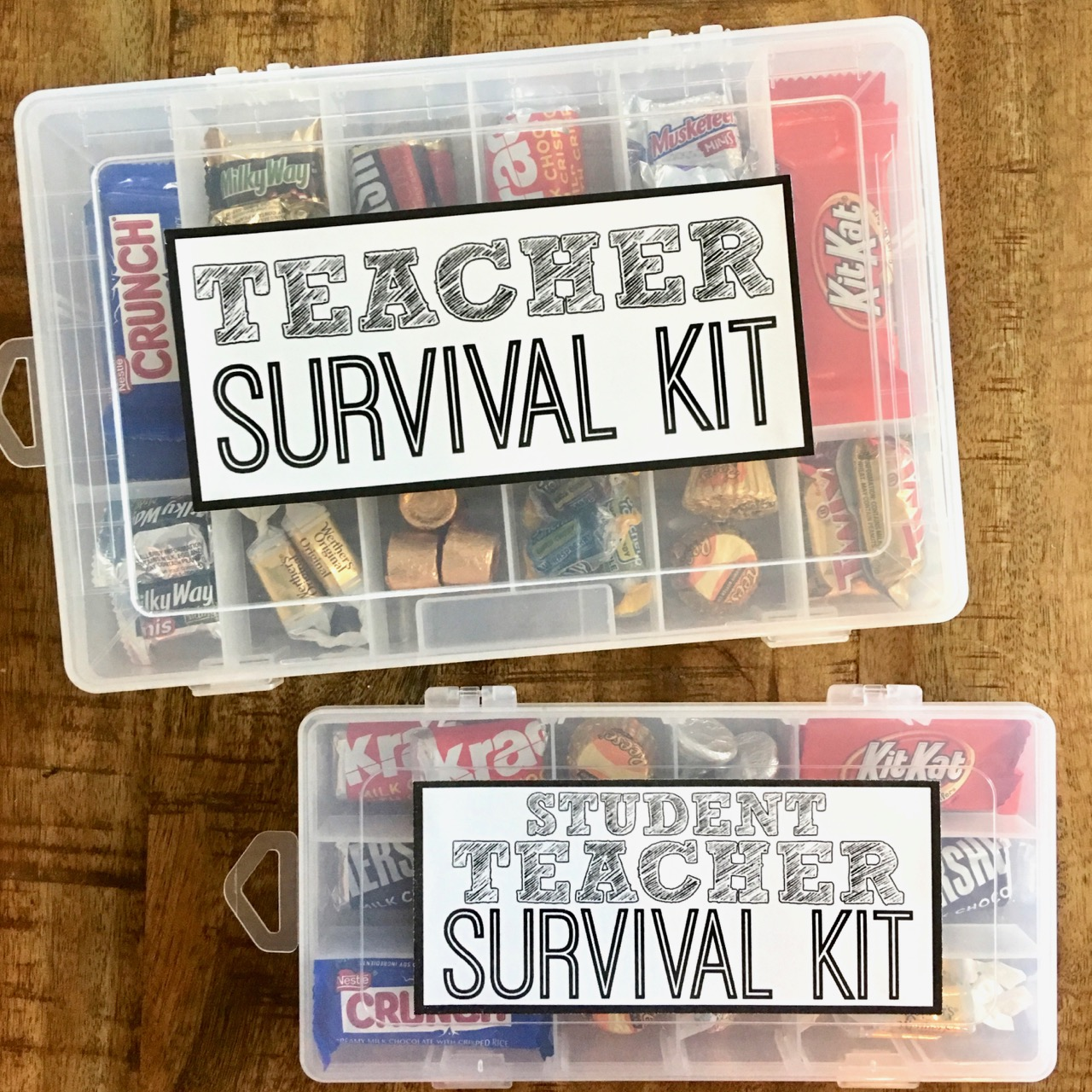 photo regarding Teacher Survival Kit Printable named Trainer Survival Package with Absolutely free Printable - Smashed Peas