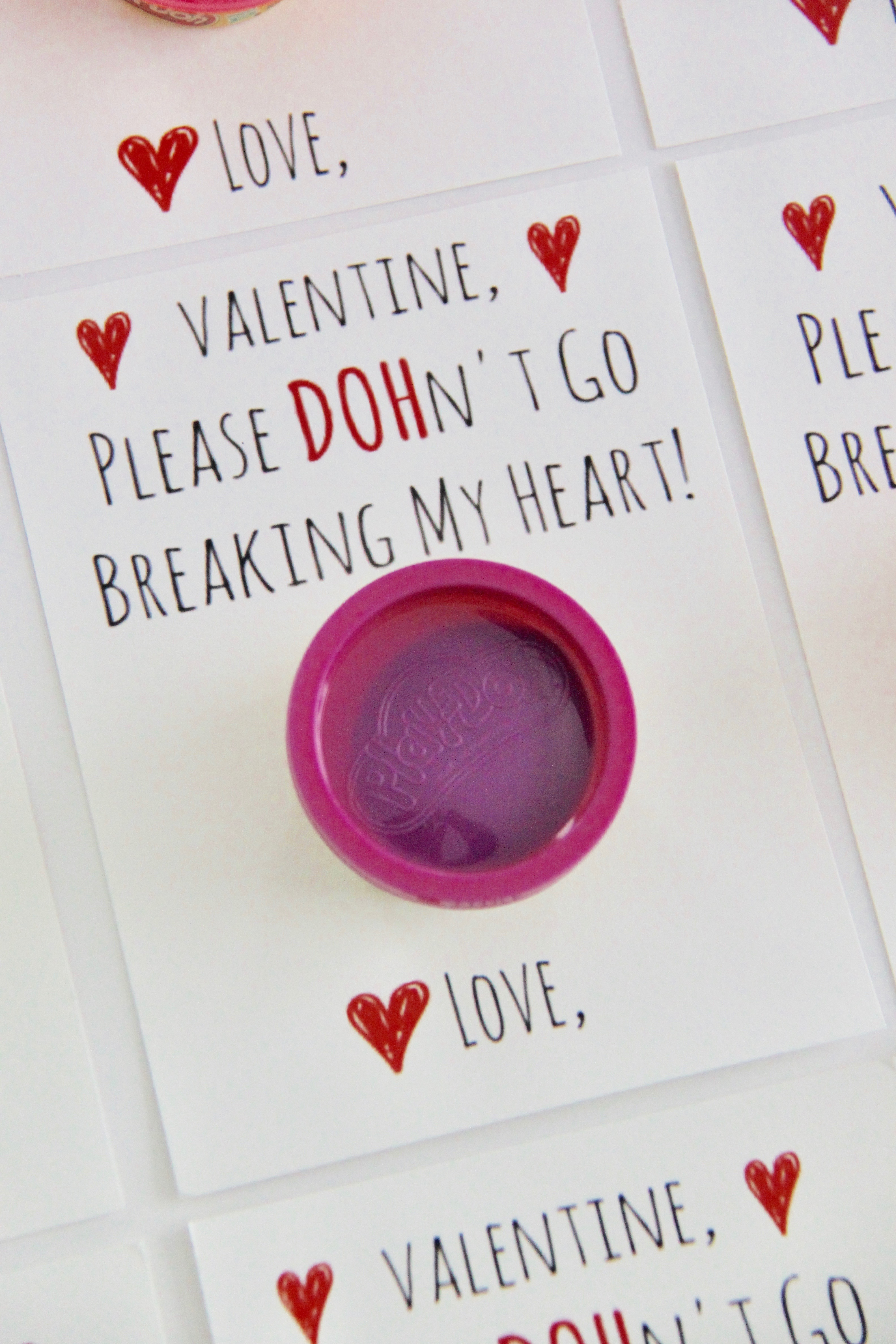 photograph about Play Dough Valentine Printable called Enjoy Doh Valentine Card Free of charge Printable - Smashed Peas Carrots