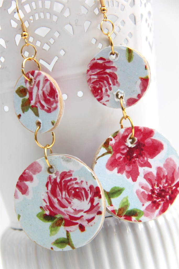 How To Make Floral Wooden Circle Earrings Smashed Peas