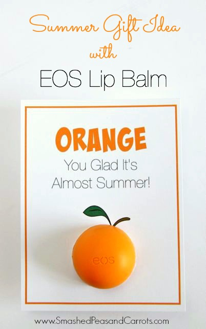 EOS Lip Balm 'Orange' You Glad It's Summer Card with Free Printable Card // Smashed Peas and Carrots