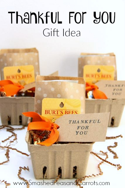 Fall Themed Thank You Gift Idea - Smashed Peas & Carrots
