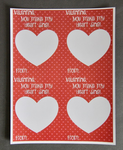 you make my heart sing valentines you make my sing card printable smashed 7949