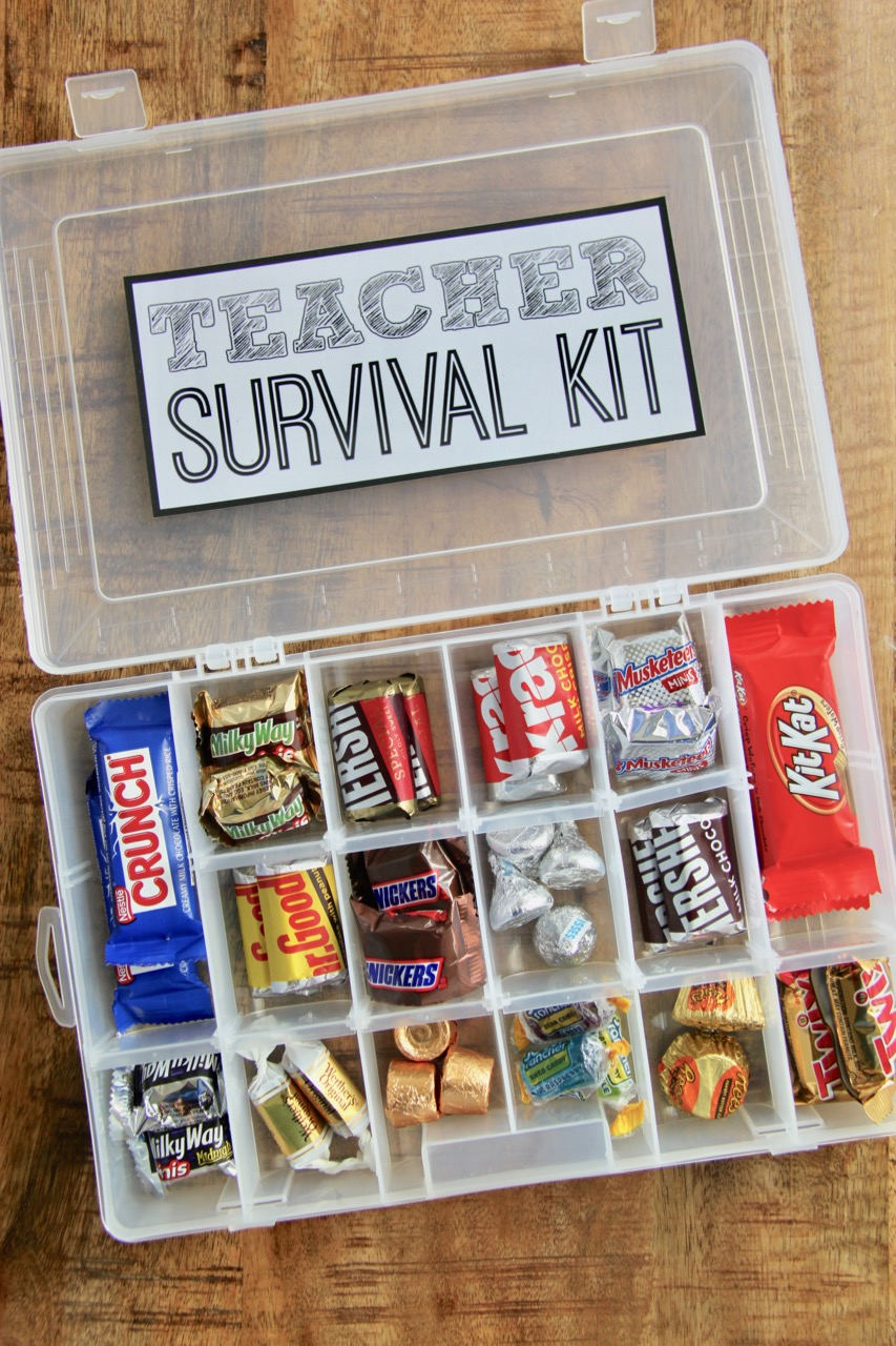 Teacher Survival Kit With Free Printable Smashed Peas